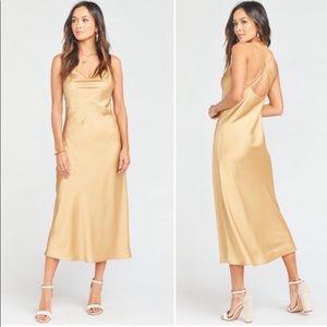 Show Me Your MuMu True Gold Luxe Satin Verona Cowl